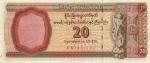 20 Mianmaro dolerių.