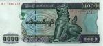 1000 Mianmaro kijatų.