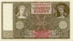 100 Olandijos guldenų.