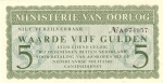 5 Olandijos guldenai.