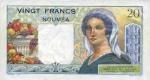 20 Naujosios Kaledonijos frankų.
