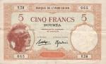 5 Naujosios Kaledonijos frankai.