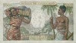 1000 Naujosios Kaledonijos frankų.