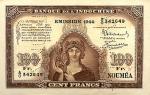 100 Naujosios Kaledonijos frankų.