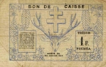 1 Naujosios Kaledonijos frankas.