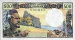 500 Naujosios Kaledonijos frankų.