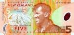 5 Naujosios Zelandijos doleriai.