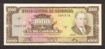 1000 Nikaragvos kordobų.