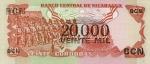20000 Nikaragvos kordobų.