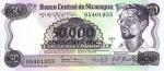 50000 Nikaragvos kordobų.