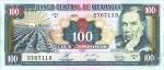 100 Nikaragvos kordobų.