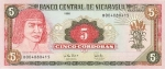 5 Nikaragvos kordobos.