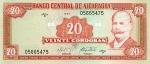20 Nikaragvos kordobų.