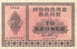 2 Norvegijos kronos.