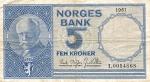 5 Norvegijos kronos.