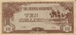 10 Prancūzijos Polinezijos ir Okeanijos šilingų.