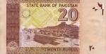 20 Pakistano rupijų.