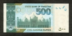 500 Pakistano rupijų.