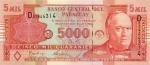 5000 Paragvajaus gvaranių.