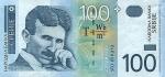 100 Serbijos dinarų.