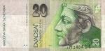 20 Slovakijos kronų.