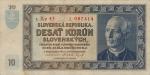 10 Slovakijos kronų.