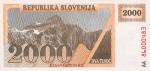 2000 Slovėnijos tolarų.