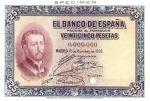 25 Ispanijos pesetos.
