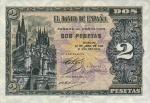 2 Ispanijos pesetos.