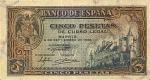 5 Ispanijos pesetos.