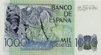 1000 Ispanijos pesetų.