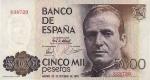 5000 Ispanijos pesetų.