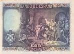 500 Ispanijos pesetų.