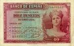 10 Ispanijos pesetų.