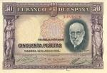 50 Ispanijos pesetų.