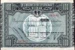100 Ispanijos pesetų.