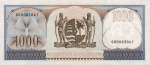 1000 Surinamo guldenų.