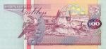 100 Surinamo guldenų.