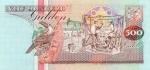 500 Surinamo guldenų.