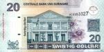 20 Surinamo dolerių.