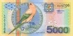 5000 Surinamo guldenų.