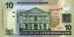 10 Surinamo dolerių.