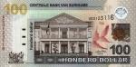 100 Surinamo dolerių.