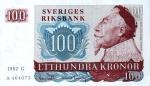 100 Švedijos kronų.
