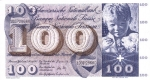 100 Šveicarijos frankų.