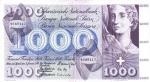 1000 Šveicarijos frankų.