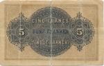 5 Šveicarijos frankai.
