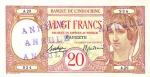 20 Taičio frankų.