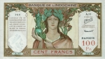 100 Taičio frankų.