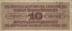 10 Ukrainos karbovancų.